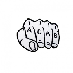 0863e894481 A.C.A.B. Fist Woven Iron On Embroidered Patch AFWIOEP01 4.95 € | oneclick.gr