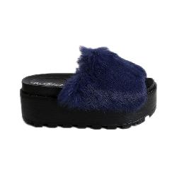 Παντόφλα με γουνάκι τρίπατη (Μπλε) 6309 22.50 €  776f55a7eae