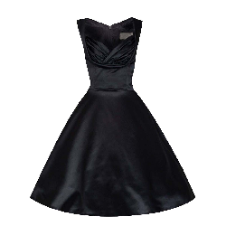 5ff4cd95bea vintage satin dramatic φόρεμα Teresa black 4255 48.20 € | oneclick.gr