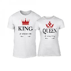 Μπλουζες για ζευγάρια King Queen λευκό 43472 18.99 €  e34735b1f3b