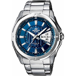 a34271b69b28 CASIO Edifice Stainless Steel Bracelet Blue Dial EF-129D-2AVEF 19647 81.00  €